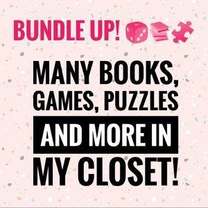 Bundle up! 📚🎲🧩💄
